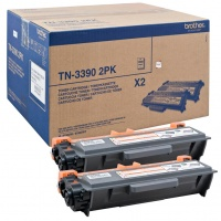 Brother TN3390 Super High Yield Toner Black (Pack 2)