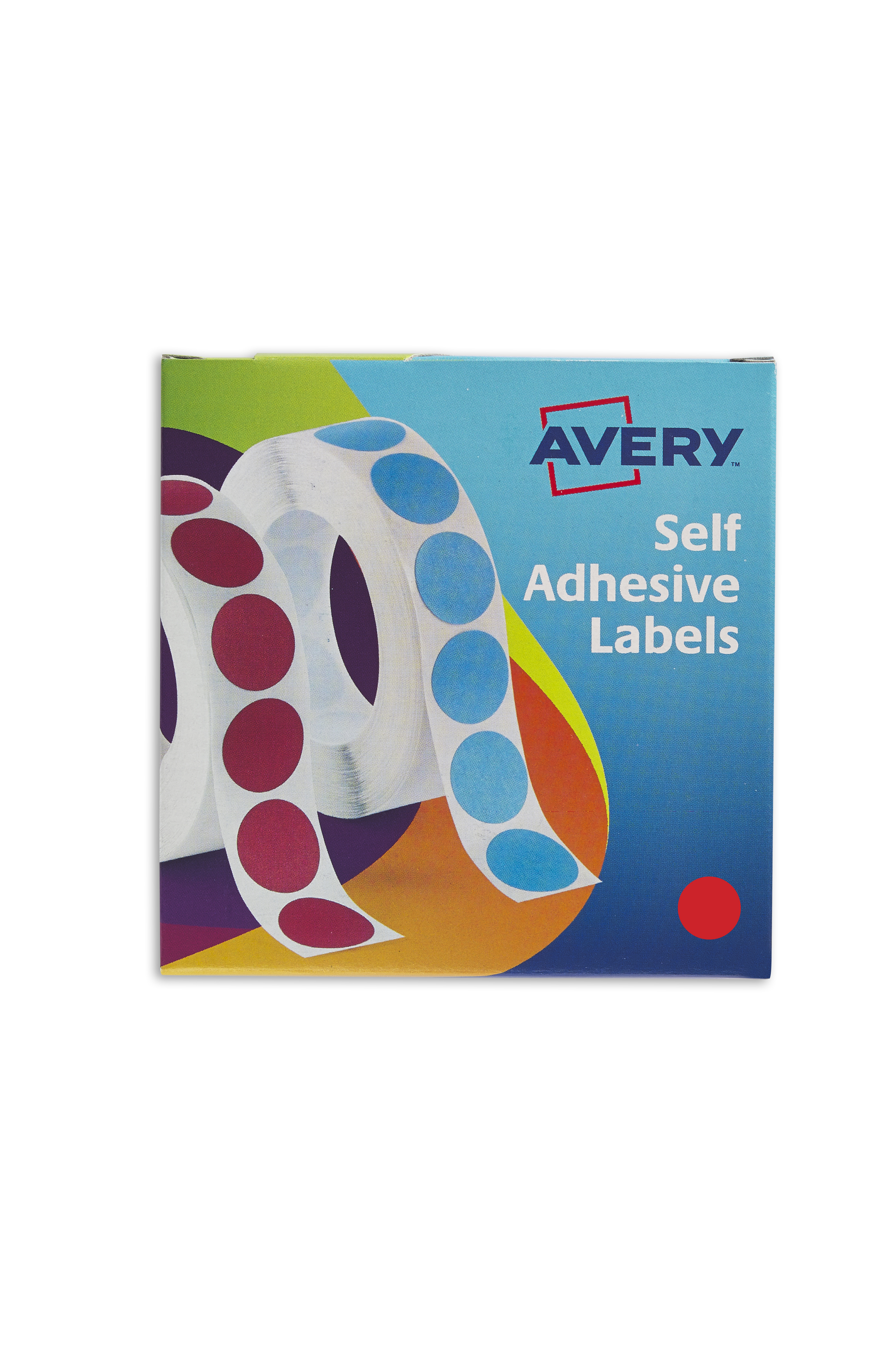 avery labels in disp round 19mm dia red 24 506 1120 labels