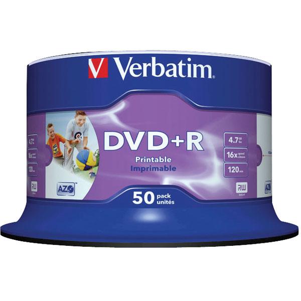 Verbatim DVD Plus R Inkjet Printablent 50Pack