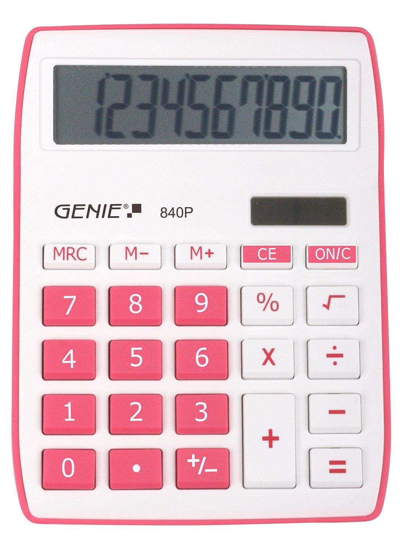 genie 840p pink calculator. Black Bedroom Furniture Sets. Home Design Ideas