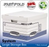 Fellowes System Large Storage Box Grey PK10