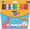 Bic Kids Visacolor Extra Large FeltTip Pen Assorted(Pack 12)