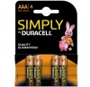 AAA Duracell SIMPLY Batteries PK4