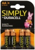 AA Duracell SIMPLY Batteries PK4