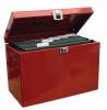 Value Cathedral Metal File Box Foolscap Red