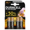 AA Duracell Plus Batteries PK4