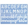 Helix Stencil Set of Letters Numbers and Symbols 50mm