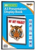 Tiger A3 Presentation Display Book Black 20 Pocket
