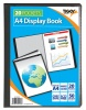 Tiger A4 Presentation Display Book Black 20 Pocket