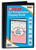 Tiger A5 Presentation Display Book Black 40 Pocket