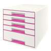 Leitz Wow Cube 5 Drawer Pink