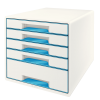 Leitz Wow Cube 5 Drawer Blue