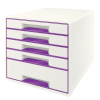 Leitz Wow Cube 5 Drawer Purple