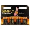 AA Duracell SIMPLY Batteries PK8
