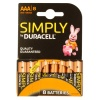 AAA Duracell SIMPLY Batteries PK8