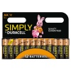 AA Duracell SIMPLY Batteries PK12