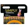 AAA Duracell SIMPLY Batteries PK12