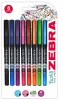 Zebra Sarasa Porous Fineliner Assorted Colours PK8