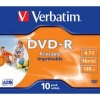 Verbatim DVD-R 16X 10 Pack Jewel Case Printable