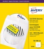 Avery CD/DVD Sleeves Window 126x126mm SL1760-100 (100Labels)